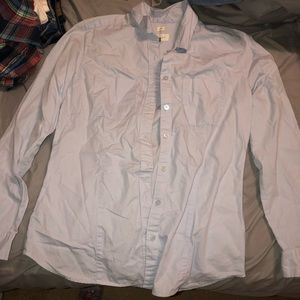 Light blue button up long sleeve shirt